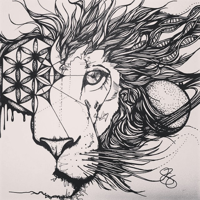 Be the master of your own #universe #art #space #lion